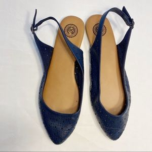 SO Shoes - Free w/ purchase!! Navy sling back flats